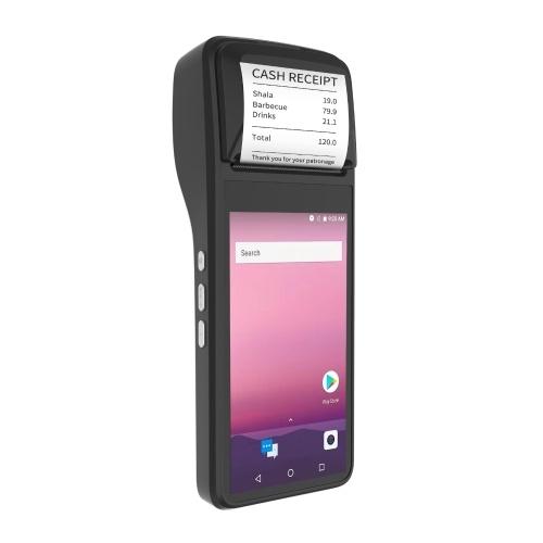 Портативный КПК Aibecy POS-терминал Термопринтер для чеков 58 мм Android 7.0 Поддержка 3G WiFi BT GPS OTG 1D / 2D Сканирование Оплата с 5,0-дюймовой сенсорной камерой для розничных магазинов Рестораны Супермаркетов