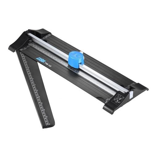 DSB TM-10 cortador de cortador A4 seguro 3 em 1 onda / lâmina de aço inoxidável selecionável em linha reta / saltada com régua estendida para foto para cartão de papel