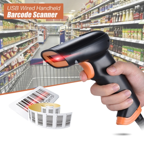 radall rd-s1 usb wired handheld barcode scanner reader