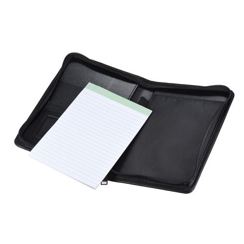 Przenośny Biznes Portfolio Padfolio Folder Document Case Organizer A5 PU skórzany wizytownik notatka Pad