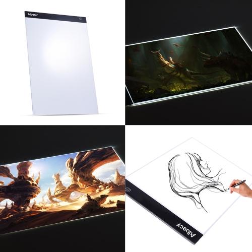 Portable A3 LED Light Box Tracing Copiar o quadro com função de memória Stepless Controle de brilho