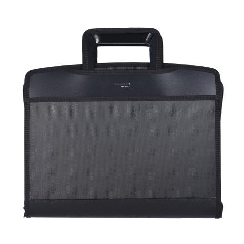 Multifuncional Zippered Business Protfolio Briefcase A4 File Folder Organizador Bolsa com CD bolsos Carry Handle para empresários Professores Office Worker