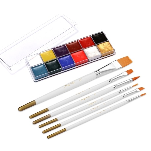12 cores sólido oleosa pintura facial pigmento kit graxa