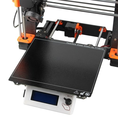 Double-sided Textured PEI Spring Steel Sheet Powder Coated PEI Build Plate 3D Printer Heatbed Accessories Compatible with i3 MK2.5S MK3 MK3S
