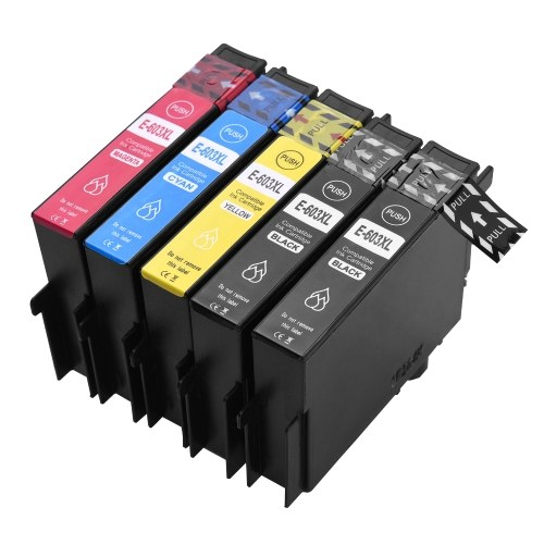Aibecy 603XL Ink Cartridges Replacement for Epson 603XL 603 XL Compatible with Epson XP-2100/XP-2105/XP-3100/XP-3105/XP-4100/XP-4105 Epson WorkForce WF-2810DWF/WF-2830DWF/WF- 2835DWF/WF-2850DWF Printer, 4 Pack