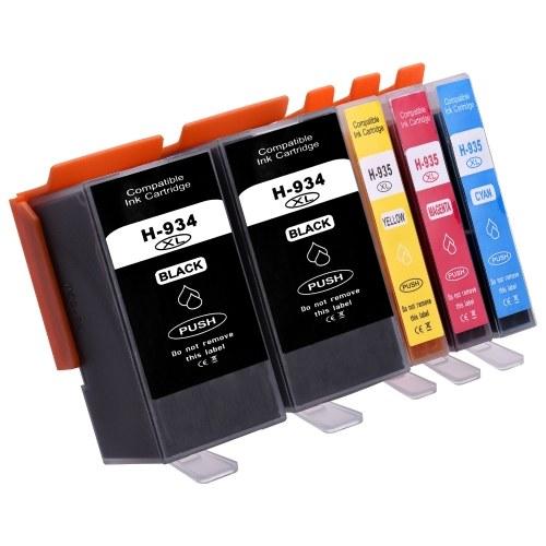 Замена совместимых картриджей Aibecy для HP 934 935 XL 934XL 935XL Совместимость с HP Officejet Pro 6230 6830 6835 Принтер HP Officejet 6220 6812 6815 6820, упаковка из 4 штук OS4609-5