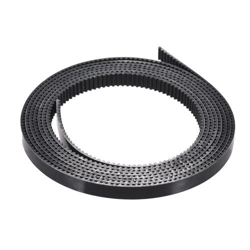 Dois milímetros Passo 6 mm de largura correia dentada PU materiais com fio de aço para RepRap Prusa i3 3D Printer CNC