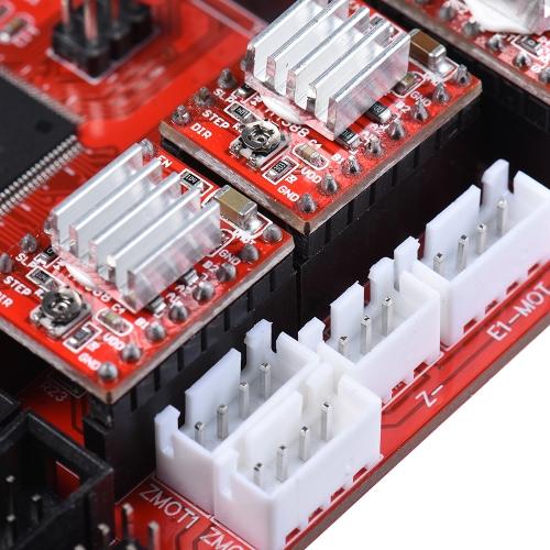 ZONESTAR ZRIB Controlador Placa Placa-mãe Placa-mãe Adote ATMEGA 2560 MCU Compatível para RAMPS 1.4 RepRap Mendel Prusa i3 FDM Impressora 3D Peças de montagem automática DIY