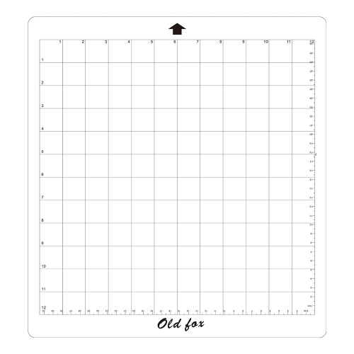 1pcs OLD FOX Replacement Cutting Mat Transparent Adhesive Mat with Measuring Grid 12 * 12 Inch for Silhouette Cameo Plotter Machine, 1pcs