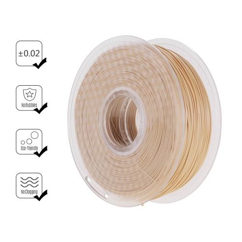 Filamento de madeira do PLA do filamento da impressora 3D de 1.75mm