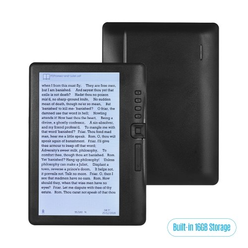 BK7019 Portable 7 Inch e-Book Reader E-reader Color Screen Glare-free
