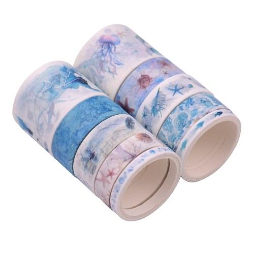 Васи японские бумажные ленты скрапбукинг лента рулонов красочный дизайн 10 шт. / Компл. фото