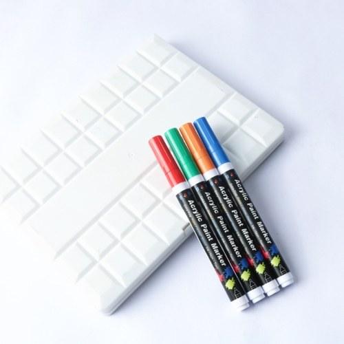 H & B 18 Цветов Акриловые Краска Маркеры Ручки 0.7 мм Очень тонкий Наконечник На Водной Основе Ручка Краски Живопись Художественные Принадлежности OS2936