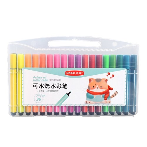 36 Colors Washable Colored Marker Pen Rounded Tip Watercolor Pen Kit
