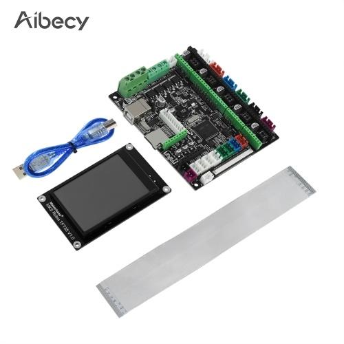 Плата принтера Aibecy 3D STM32 MKS Robin Nano Board V1.2 Аппаратное обеспечение с открытым исходным кодом (поддержка Marlin 2.0) Поддержка 3,5-дюймового сенсорного USB-кабеля