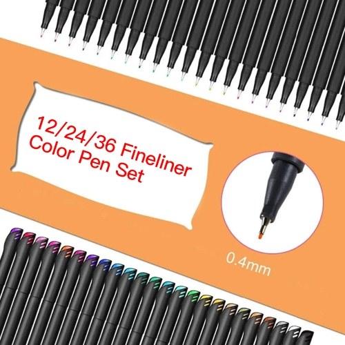 12/24/36 Fineliner Color Pen Set