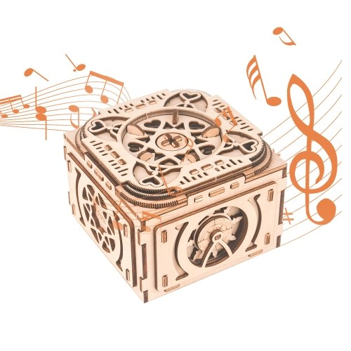 3D Wooden Puzzle Music Box