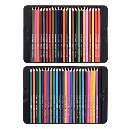 48 Premium Kolor Pre-Zaostrzone bazie oleju kolorowymi kredkami z metalową obudową dla dzieci Dorośli Artysta rysunek sztuka Szkicowanie Pisanie Artwork Coloring Book
