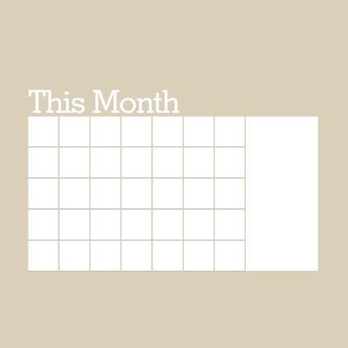 Naklejka na ścianę Zdejmowany Kalendarz na Księdze Kalendarz Ścienny Kalendarz Miesiący Biały Notatka Naklejka na Biurko Organizer Pokój / Biuro / Ubranie szkoły