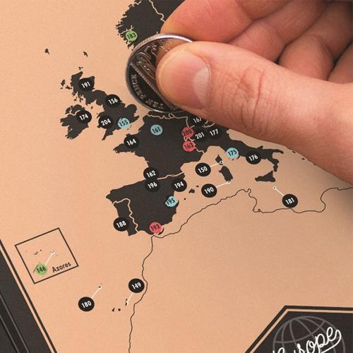 Scratch Off World Travel Map Black Gold Log