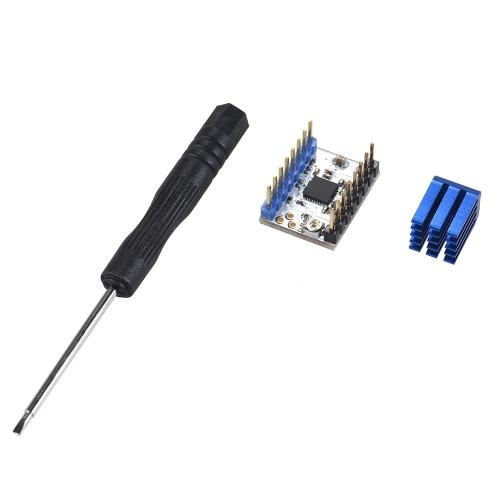 1 pc TMC2208 V1.0 Moduł wyciszania silnika krokowego z radiatorem Wymień TMC2100 na części do drukarek 3D