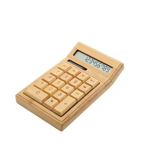 Bambu Eco-friendly Calculadora Eletrônica Contador Função Padrão 12 Dígitos Solar & Bateria Dual Alimentado para Home Office Escola Retalho