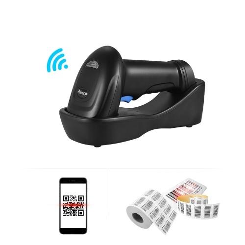 Aibecy WM3L 433MHzワイヤレス1D 2DオートイメージバーコードスキャナーハンドヘルドQRコードPDF417バーコードリーダー200m / 656ftレンジ1300t / sクレードル付き携帯電話用高速支払いスーパーマーケット店舗倉庫