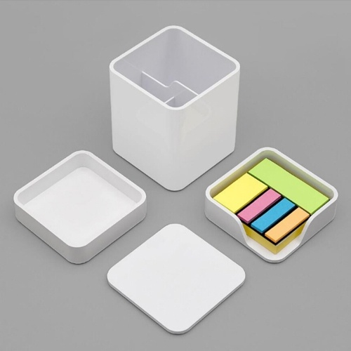Xiaomi LEMO Desktop Three-piece Pen Hold Storage Set Storage Box Layered Scattered Utensils Pen Refill Note Paper Straight Ruler Scissors for Work Place