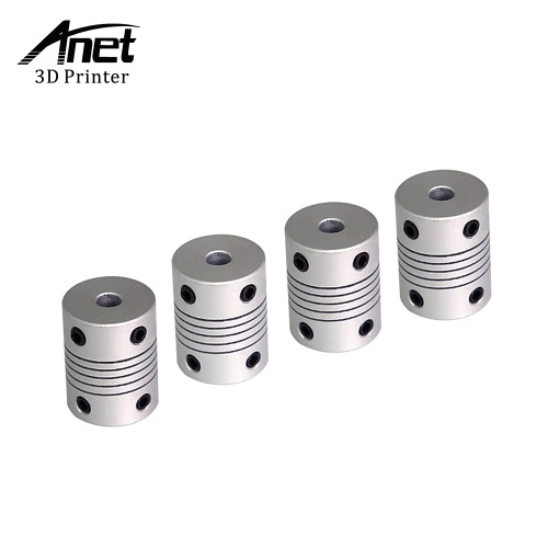 Anet 3D Printer Flexible Coupling Shaft Coupler 5mm to 8mm Inner Diameter CNC Motor Jaw Shaft Couplers 3D Printer Accessory for RepRap Anet A8 A6 Ender 3 3D Printer CNC Machine(Pack of 4Pcs)