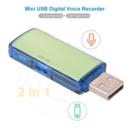 Mini-USB-Digital-Voice-Sound-Recorder U-Disk-Recorder One-Button-Aufnahme Wiederaufladbare 8 GB Kapazität für Besprechungsgespräche Interview