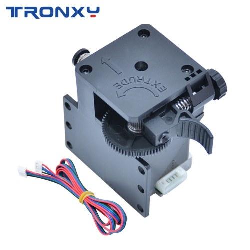 Kit di estrusione di titanio assemblato parti di aggiornamento 3D Tronxy con motore passo-passo e supporto filo Stampa filamento morbido compatibile con X5SAPRO / X5SA-400 / D01 / X5SA-400PRO / X5SA-500 Stampante 3D