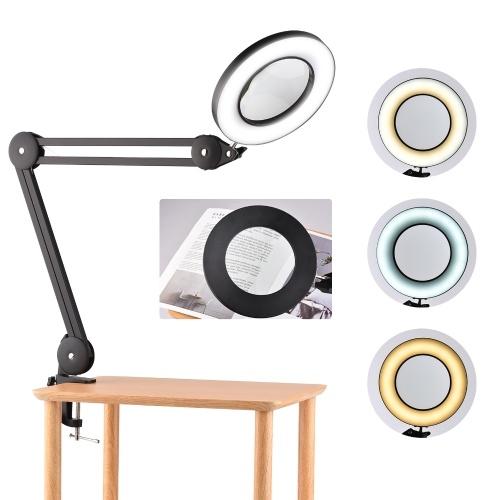 Светодиодная настольная лампа с 5-кратным увеличением