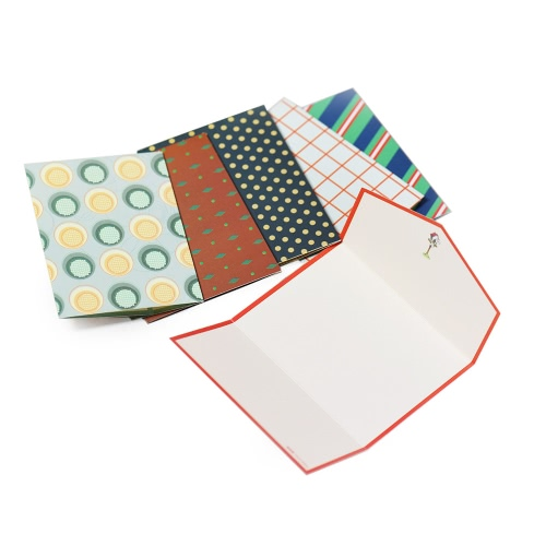 6pcs/lot Creative Cute Mini Writing Letter Paper Stationery Message Card Special Folding Envelope Design