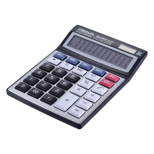 Funkcja standardowa pulpitu elektronicznego kalkulatora 12 cyfr Duży wyświetlacz bateria słoneczna i Dual Power Supply Metal Panel Szkoła Biznesu Home Office