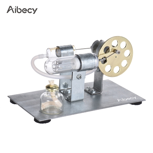 Aibecy Mini Hot Air Stirling Motor Motor Modelo Stream Power Physics Experiment Educational Toy