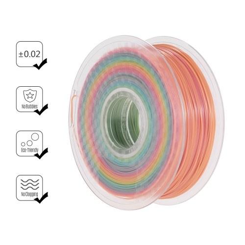 3D принтер PLA накаливания 1.75 мм радуга разноцветные нити градиента