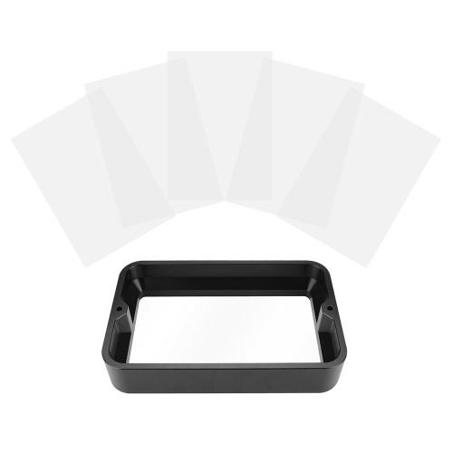 Cremalheira material dos acessórios 5.5inch da impressora 3D para o recipiente de cura claro da resina da impressora
