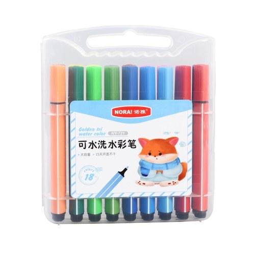 Kit pennarello colorato lavabile a 18 colori con punta arrotondata