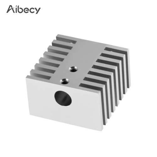 Aibecy monoblocco in lega di alluminio blocco dissipatore di calore radiatore in metallo fai da te raffreddamento aletta 30 * 30 * 18mm