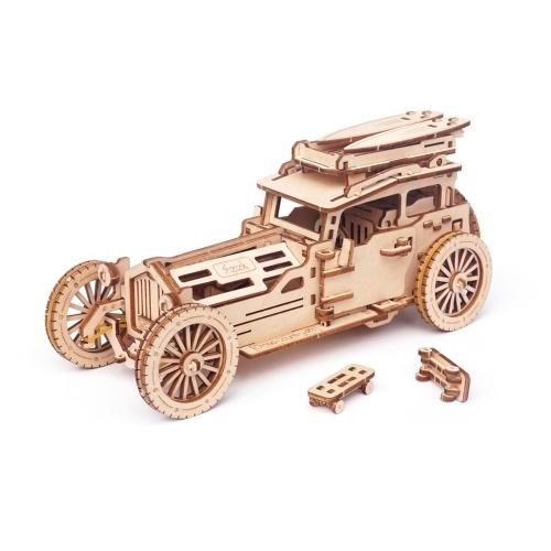 Puzzle in legno 3D Supporto per auto d'epoca Kit modello meccanico di modifica coperchio superiore