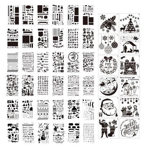 48 pezzi di stencil da disegno