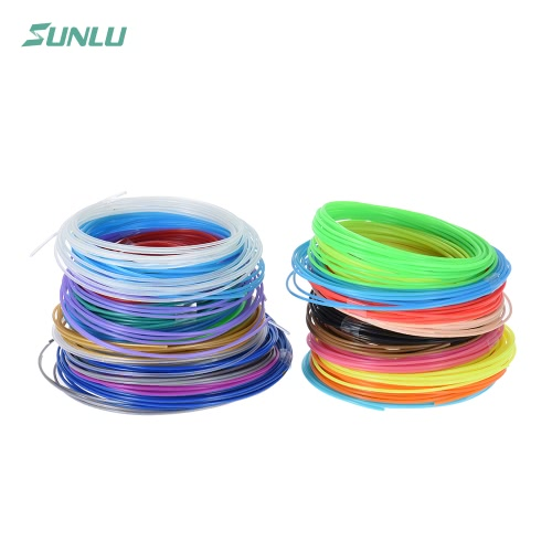 Sunlu SL-BH005 20szt Per 5m / 16.4ft całkowita 100m / 328.1ft ABS drukarki 3D Printing Pen Refill 1.75mm Średnica włókien w tym 4 luminated kolorów (20 różnych kolorach, Random dostawa)