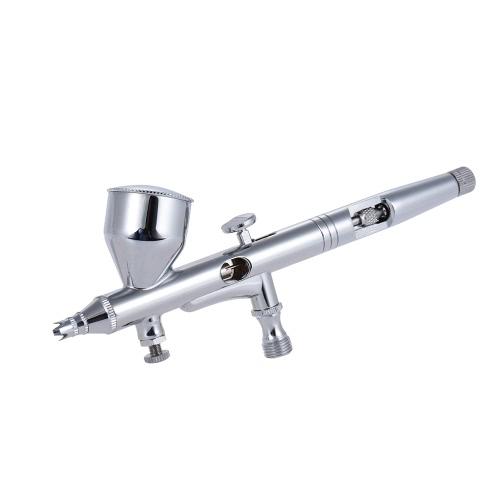 Zasilanie grawitacyjne Dual-Action Airbrush Air Brush Kit Set pistolet natryskowy z Air Hose 0.2mm / 0.3mm / 0.5mm igieł do dysz 9cc Kolor Puchar dla modelu kolorowanie Malowanie paznokci tatuaż Ciasto dekorowanie Makeup