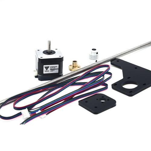 TEVO Dual Z-Axis Upgrade Kit 42 Step Motor & T8 Screw 375mm 8mm com porca de bronze para peça de impressora 3D