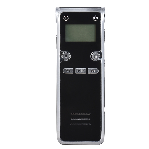 Gravador de voz digital de 8GB Leitor de MP3 Gravador de voz ativado por som