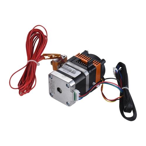 Ulepszone elementy drukarki 3D Zestaw wytłaczający MK8 z wentylatorem silnika krokowego 0,3 mm Dysza mosiężna