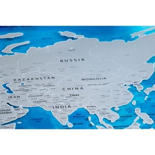 Scratch Off World Travel Map Poster Foglio di rame Adesivo da parete Diario personalizzato Diario di piccola dimensione con imballaggio cilindrico