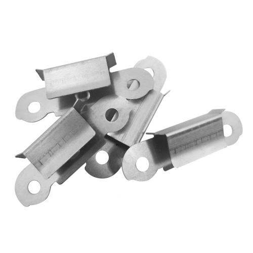 Clip per morsetto per fissaggio a fissazione su piattaforma in vetro caldo da 4 pezzi in acciaio inossidabile