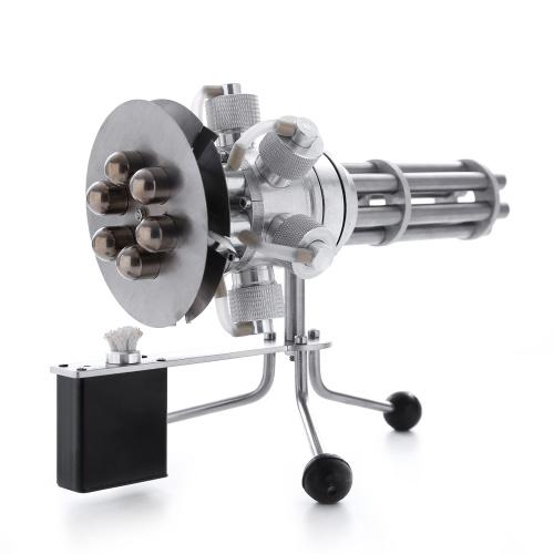 金属熱風スターリングエンジンモーターモデル6気筒教育玩具