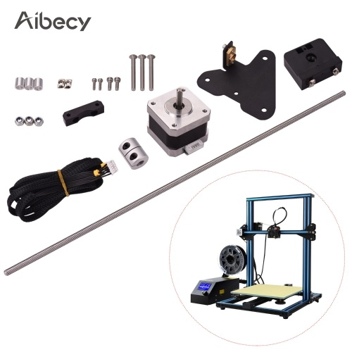 Aibecy 3D Printer Accessories Dual Z Axis Leading Screw Rod Upgrade Kit with Stepper Motor Replacement for Creality CR-10 3D Printer